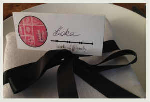 Ciricle of Friends Placecard
